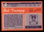 1970 Topps #110  Bob Trumpy  Back Thumbnail