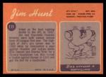 1970 Topps #111  Jim Hunt  Back Thumbnail
