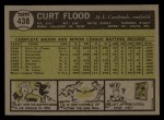 1961 Topps #438   Curt Flood Back Thumbnail