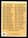 1963 Topps #509 A Checklist 7  Back Thumbnail