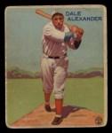 1933 Goudey #221  Dale Alexander  Front Thumbnail