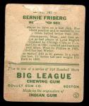 1933 Goudey #105  Barney Friberg  Back Thumbnail