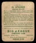 1933 Goudey #161  Al Spohrer  Back Thumbnail
