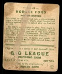 1933 Goudey #24   Horace Ford Back Thumbnail