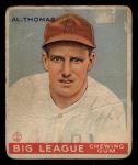 1933 Goudey #169  Al Thomas  Front Thumbnail