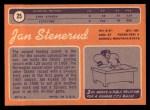1970 Topps #25   Jan Stenerud Back Thumbnail