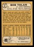 1968 Topps #84   Bobby Tolan Back Thumbnail