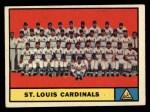 1961 Topps #347  Cardinals Team  Front Thumbnail