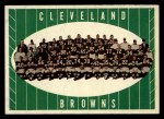 1961 Topps #76   Browns Team Front Thumbnail