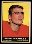 1961 Topps #178   Ross OHanley Front Thumbnail