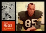 1962 Topps #67  Max McGee  Front Thumbnail