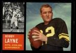 1962 Topps #127  Bobby Layne  Front Thumbnail