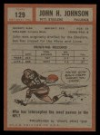 1962 Topps #129   John Henry Johnson Back Thumbnail