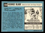 1964 Topps #156  George Blair  Back Thumbnail