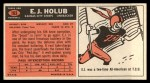 1965 Topps #103   E.J. Holub Back Thumbnail