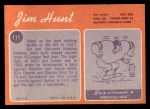 1970 Topps #111  Jim Hunt  Back Thumbnail