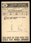 1959 Topps #20  Frank Gifford  Back Thumbnail