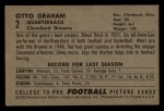 1952 Bowman Small #2   Otto Graham Back Thumbnail