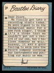 1964 Topps Beatles Diary #3 A  Paul McCartney  Back Thumbnail
