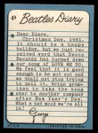 1964 Topps Beatles Diary #4 A George Harrison  Back Thumbnail