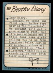 1964 Topps Beatles Diary #35 A  George Harrison Back Thumbnail
