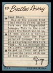 1964 Topps Beatles Diary #41 A George Harrison  Back Thumbnail