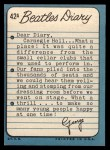 1964 Topps Beatles Diary #42 A George Harrison  Back Thumbnail