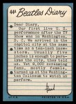 1964 Topps Beatles Diary #44 A  Paul McCartney Back Thumbnail