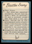 1964 Topps Beatles Diary #5 A  Paul McCartney Back Thumbnail