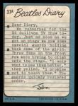 1964 Topps Beatles Diary #37 A John Lennon  Back Thumbnail