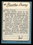 1964 Topps Beatles Diary #44 A Paul McCartney  Back Thumbnail