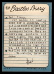 1964 Topps Beatles Diary #53 A  Paul McCartney Back Thumbnail