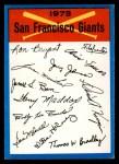 1973 Topps #22  Giants Team Checklist  Front Thumbnail