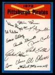 1973 Topps #20  Pirates Team Checklist  Front Thumbnail