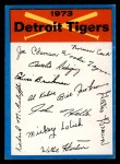 1973 Topps Blue Team Checklists #9   Detroit Tigers Front Thumbnail