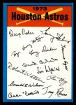1973 Topps Blue Team Checklists #10   Houston Astros Front Thumbnail
