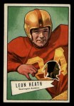 1952 Bowman Small #91   Leon Heath   Front Thumbnail