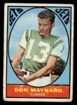 1967 Topps #97   Don Maynard Front Thumbnail
