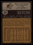 1973 Topps #384   Don Baylor Back Thumbnail