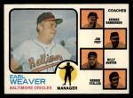1973 Topps #136 ^ORG^  -  Earl Weaver / George Bamberger / Jim Frey / Billy Hunter / George Staller Orioles Leaders Front Thumbnail