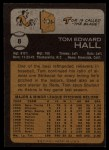 1973 Topps #8   Tom Hall Back Thumbnail