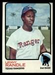 1973 Topps #378   Len Randle Front Thumbnail
