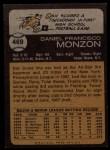 1973 Topps #469   Dan Monzon Back Thumbnail