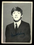 1964 Topps Beatles Black and White #160   Paul Mccartney Front Thumbnail