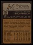 1973 Topps #564   Mike Thompson Back Thumbnail
