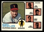 1973 Topps #421 ORG Angels Field Leaders  -  Bobby Winkles / Tom Morgan / Salty Parker / Jimmie Reese / John Roseboro Front Thumbnail