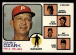 1973 Topps #486 ORA  -  Danny Ozark / Carroll Beringer / Billy De Mars / Ray Rippelmeyer / Bobby Wine Phillies Leaders Front Thumbnail