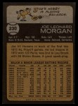 1973 Topps #230  Joe Morgan  Back Thumbnail