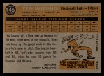 1960 Topps #146  Rookies  -  Ted Wieand Back Thumbnail