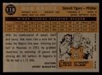 1960 Topps #118  Rookies  -  Bob Bruce Back Thumbnail